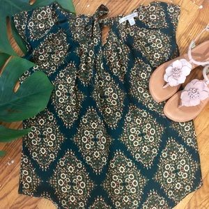 Lauren Conrad Flower print blouse